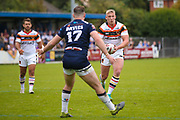 Bradford Bulls replacement Mikolaj Oledzki (31) in action  during the Kingstone Press Championship match between Swinton Lions and Bradford Bulls at the Willows, Salford, United Kingdom on 20 August 2017. Photo by Simon Davies.