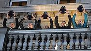 TENIS, BEOGRAD, 06. Dec. 2010. - Viktor Troicki, Janko Tipsarevic, Novak Djokovic i Nenad Zimonjic. Vise hiljada gradjana se okupilo veceras ispred Starog dvora kako bi pozdravili tenisere Srbije i strucni stab - povodom osvajanja Dejvis kupa. Foto: Nenad Negovanovic