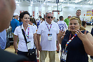 (R) Joanna Styczen speaks to (L) Dorota Idzi and (C) Janusz Wesolowski after basketball match SO Poland v SO Canada during second day of the Special Olympics World Games Los Angeles 2015 on July 26, 2015 on Galen Center at University of Southern California in Los Angeles, USA.<br /> USA, Los Angeles, July 26, 2015<br /> <br /> Picture also available in RAW (NEF) or TIFF format on special request.<br /> <br /> For editorial use only. Any commercial or promotional use requires permission.<br /> <br /> Adam Nurkiewicz declares that he has no rights to the image of people at the photographs of his authorship.<br /> <br /> Mandatory credit:<br /> Photo by © Adam Nurkiewicz / Mediasport