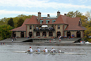 Boston, USA, Harvard's Weld Boat House, Head of the Charles, Race Charles River,  Cambridge,  Massachusetts. Sunday  20/10/2007  [Mandatory Credit Peter Spurrier/Intersport Images]..... , Rowing Course; Charles River. Boston. USA Boat House