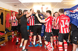 Lincoln City celebrate winning the league.  - Mandatory by-line: Alex James/JMP - 22/04/2019 - FOOTBALL - Sincil Bank Stadium - Lincoln, England - Lincoln City v Tranmere Rovers - Sky Bet League Two
