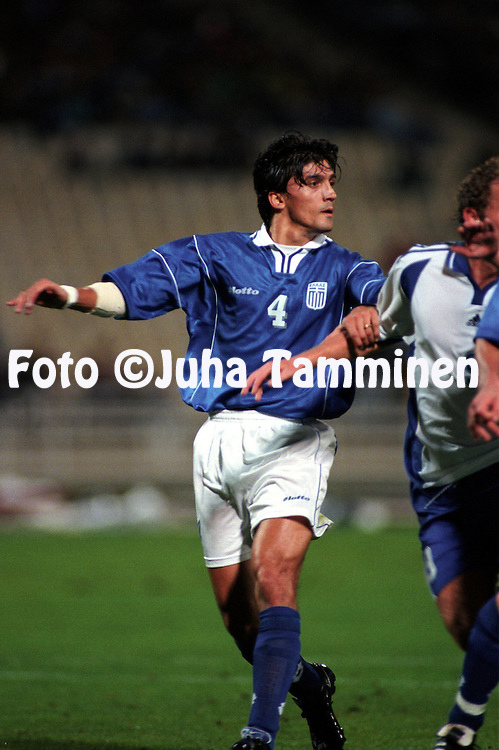 07.10.2000, Olympic Stadium, Athens, Greece. .FIFA World Cup Qualifying match, Greece v Finland. .Georgios Amanatidis - Greece.©Juha Tamminen