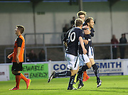 Martin Boyle is congratulated after scoring by Craig Wighton and Josh Skelly - Dundee v Dundee United, SPFL Development League at Gayfield, Arbroath<br /> <br />  - &copy; David Young - www.davidyoungphoto.co.uk - email: davidyoungphoto@gmail.com
