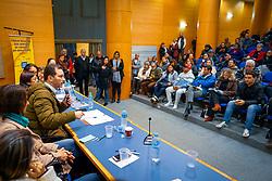 Porto Alegre, RS 02/07/2019: O prefeito, Nelson Marchezan Júnior, participou, na tarde desta terça-feira (2), no auditório da PUCRS, da sessão plenária do Fórum Municipal dos Direitos da Criança e do Adolescente. Os secretários municipais, da Educação, Adriano Naves de Brito, e de Desenvolvimento Social e Esporte, Comandante Nádia Gerhard, e a presidente da Fasc, Vera Ponzio, participaram do encontro. Foto: Jefferson Bernardes/PMPA