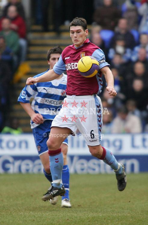 Reading, England - Saturday, February 10, 2007: Reading against Aston Villa's Gareth Barry during the Premiership match at the Madejski Stadium. (Pic by Chris Ratcliffe/Propaganda)