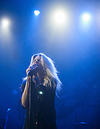 The Kills' Alison Mosshart sings during the band's performance at Observatory Orange County in Santa Ana, CA, April 19, 2016.