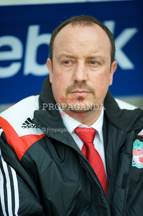 BOLTON, ENGLAND - Sunday, March 2, 2008: Liverpool's manager Rafael Benitez before the Premiership match against Bolton Wanderers at the Reebok Stadium. (Photo by David Rawcliffe/Propaganda)