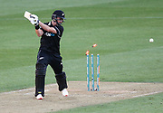 Black Caps Colin Munro is bowled out during the Fifth ODI of the 2019 ANZ International ODI Series. Blackcaps v India at Westpac Stadium, Wellington, Sunday 3rd February 2019. © Copyright Photo: Grant Down / www.photosport.nz