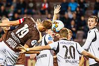 Fotball , 24. september 2017 , 1. divisjon , OBOSligaen<br /> Mjøndalen - Åsane<br /> Jonathan Lindseth, Mjøndalen<br /> Stian Nygaard, Åsane<br /> Foto: Christoffer Hansen , Digitalsport