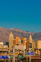 New York New York, The Strip,  Las Vegas, Nevada USA.