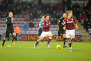 Northampton Town Striker Ricky Holmes on the run during the Sky Bet League 2 match between Northampton Town and York City at Sixfields Stadium, Northampton, England on 6 February 2016. Photo by Dennis Goodwin.