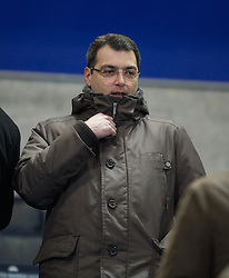 BOLTON, ENGLAND - Saturday, January 21, 2011: Liverpool's Director of Football Strategy Damien Comolli during the Premiership match against Bolton Wanderers at the Reebok Stadium. (Pic by David Rawcliffe/Propaganda)