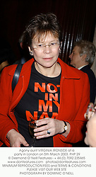 Agony aunt VIRGINIA IRONSIDE at a party in London on 5th March 2003.	PHP 29