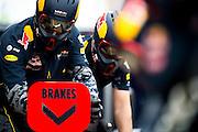 June 9-12, 2016: Canadian Grand Prix. Red Bull mechanics practicer pitstops
