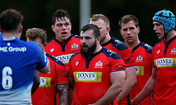James Hall prop for Bristol United and the rest of the pack line up for a scrum - Mandatory by-line: Robbie Stephenson/JMP - 18/04/2016 - RUGBY - Clifton RFC - Bristol, England - Bristol United v Saracens Storm - Aviva A League