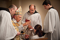 Confirmation at the Oratory of Ss. Gregory & Augustine with Bishop Robert Hermann, Fr. Bede Price, OSB and Fr. Ambrose, OSB