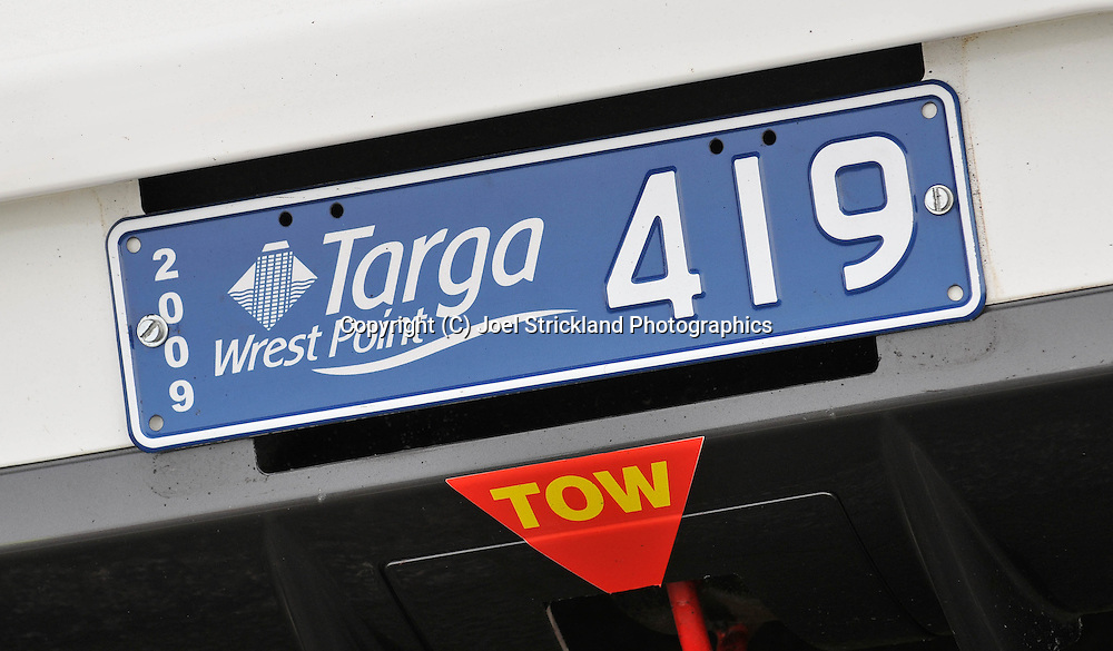 Targa Wrest Point Number plate .Day 1.Targa Wrest Point 2009.Southern Tasmania.31st of January 2009.(C) Joel Strickland Photographics.