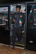 Ola Aina of Hull City arrives at Ewood Park, Blackburn ahead of during the FA Cup match between Blackburn Rovers and Hull City<br /> Picture by Matt Wilkinson/Focus Images Ltd 07814 960751<br /> 06/01/2018