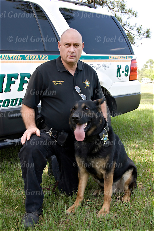 A. P. Bailey Deputy Sheriff and K-9 Handler Officer with German Shepherd named Cobus which mean people mover in Dutch
