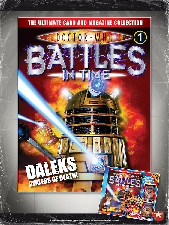 Doctor Who - Battles In Time<br /> Front Cover Issue 1 and Backing Board<br /> <br /> http://www.battlesintime.com