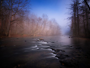 Clearing morning fog on the Patapsco River in Oella, Maryland.