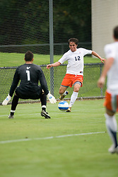 Virginia Cavaliers MF/F Neil Barlow (12)..The Virginia Cavaliers faced the South Florida Bulls in an exhibition game at Klockner Stadium in Charlottesville, VA on August 26, 2007