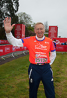 Veteran athlete David Hemery CBE - photographed at the celebrity start of the Virgin Money London Marathon 2015, Sunday 26th April 2015<br /> <br /> Roger Allen for Virgin Money London Marathon<br /> <br /> For more information please contact Penny Dain at pennyd@london-marathon.co.uk