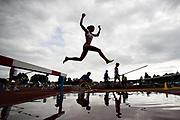HELSINGBORG, SVERIGE 2017-08-26: Maria Larsson fr&aring;n &Ouml;rgryte IS som vann guldet i 3000 meter hinder under SM i friidrott p&aring; Hedens IP, Helsingborg den 26 augusti 2017. Foto: Lars Dareberg/Ombrello<br /> ***BETALBILD***
