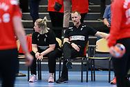 Cheftræner Klavs Bruun Jørgensen fra Danmark under VM-playoff-kampen mellem Danmark og Schweiz i Roskilde Kongrescenter Bauhaus Arena, den 1.6.2019. Photo Credit: Allan Jensen/Søren Tidemann/EVENTMEDIA.