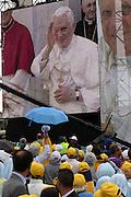San Giovanni Rotondo 21 Giugno 2009, Visita Pastorale di Sua Santità Papa Benedetto  XVI , Italy San Giovanni Rotondo 21 06 2009, Visit of  Papa Benedetto  XVI in the foto  l'arrivo a san giovanni rotondo