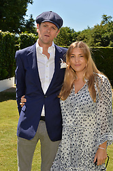 The Hon.Alexander Spencer-Churchill and his wife Scarlett at the Cartier Style et Luxe at the Goodwood Festival of Speed, Goodwood, West Sussex, England. 2 July 2017.<br /> Photo by Dominic O'Neill/SilverHub 0203 174 1069 sales@silverhubmedia.com