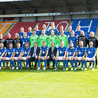 St Johnstone FC…Season 2019-20<br />Pictured back row from left, Callum Hendry, Chris Kane, Wallace Duffy, Liam Gordon, Madis Vihmann, Ross Callachan, Michael O'Halloran and Scott Tanser.<br />Middle row from left, Alan Maybury (Coach), Alex Headrick (Fitness Coach), Mel Stewart (Physio), Ali McCann, Max Johnstone, Zander Clark, Elliott Parish, Ross Sinclair, Anthony Ralston, Paul Mathers (Goalkeeping Coach), Graeme Robertson (Kitman) and Alistair Stevenson (Youth Development Manager).<br />Front row from left, David Wotherspoon, Danny Swanson, Matty Kennedy, Murray Davidson, Tommy Wright (Manager), Jason Kerr (Club Captain), Alex Cleland (Assistant Manager), Liam Craig, Drey Wright, Stevie May and Jason Holt.<br />Picture by Graeme Hart.<br />Copyright Perthshire Picture Agency<br />Tel: 01738 623350  Mobile: 07990 594431