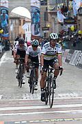 Peter Sagan, Michal Kwiatkowski and Tiesj Benoot during the UCI World Tour, Tirreno-Adriatico 2018, Stage 5, Castelraimondo to Filottrano, in Italy, on March 11, 2018 - Photo Laurent Lairys / ProSportsImages / DPPI
