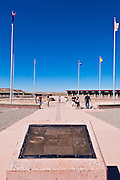 Flags and plaque at Four Corners Monument, New Mexico