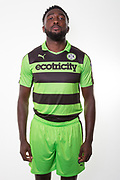 Forest Green Rovers Manny Monthe(6) during the Forest Green Rovers Photocall at the New Lawn, Forest Green, United Kingdom on 31 July 2017. Photo by Shane Healey.