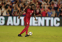 October 6, 2017 - Orlando, Florida, United States - Orlando, FL - Friday Oct. 06, 2017: Jozy Altidore scores his second goal during a 2018 FIFA World Cup Qualifier between the men's national teams of the United States (USA) and Panama (PAN) at Orlando City Stadium. (Credit Image: © John Dorton/ISIPhotos via ZUMA Wire)