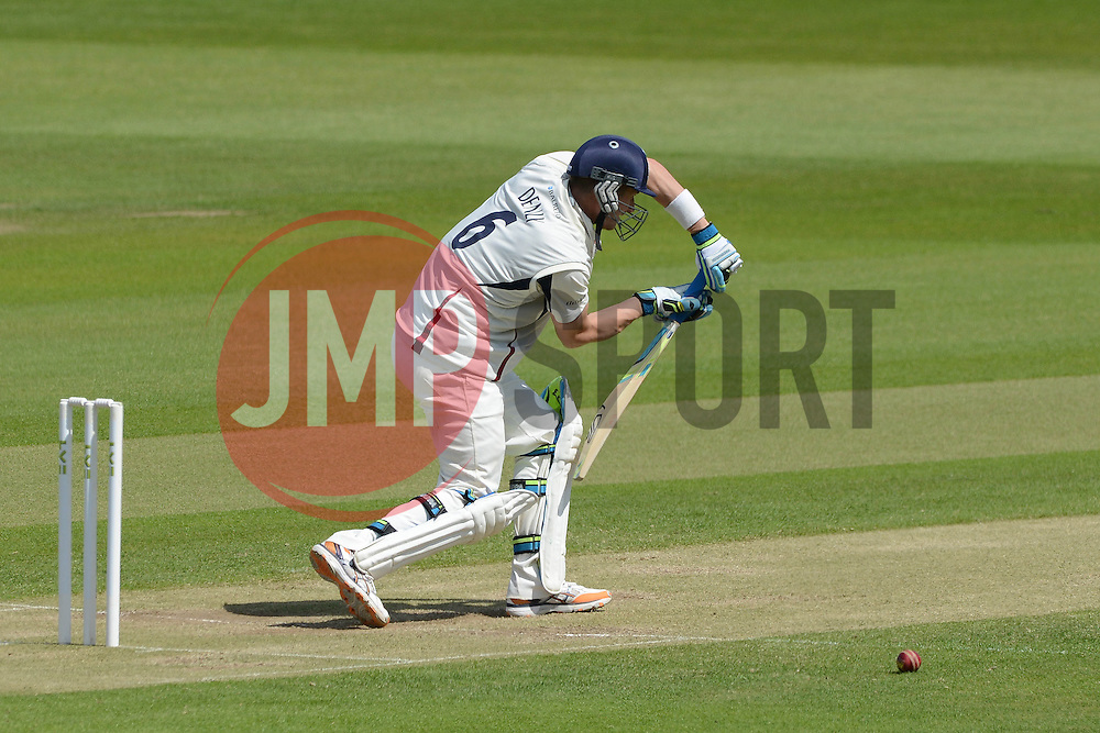 Joe Denly of Kent bats - Photo mandatory by-line: Dougie Allward/JMP - Mobile: 07966 386802 - 21/05/2015 - SPORT - Cricket - Bristol - County Ground - Gloucestershire v Kent - LV=County Cricket
