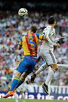 Real Madrid´s Cristiano Ronaldo and Valencia´s Shkodran Mustafi during 2014-15 La Liga match between Real Madrid and Valencia at Santiago Bernabeu stadium in Madrid, Spain. May 09, 2015. (ALTERPHOTOS/Luis Fernandez)