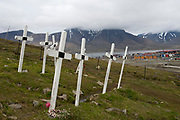 The cemetary of Longyerabyen, Svalbard.