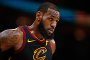 CLEVELAND, OH - JANUARY 15: LeBron James #23 of the Cleveland Cavaliers is seen during the game against the Golden State Warriors at Quicken Loans Arena on January 15, 2018 in Cleveland, Ohio. NOTE TO USER: User expressly acknowledges and agrees that, by downloading and or using this photograph, User is consenting to the terms and conditions of the Getty Images License Agreement.(Photo by Michael Hickey/Getty Images) *** Local Caption *** LeBron James