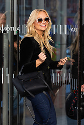 Spice Girl Emma Bunton, who has released a new album My Happy Place, arrives at The Chris Evans Breakfast Radio Show on Virgin with Sky in London. London, April 05 2019.