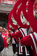 The UW Marching Band performs at Badger Bash at Union South in 2012.