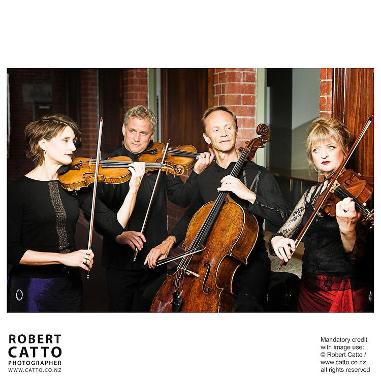 Helene Pohl;Douglas Beilman;Rolf Gjelsten;Gillian Ansell (New Zealand String Quartet)  at Victoria University, Wellington, New Zealand.