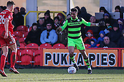 Forest Green Rovers Tahvon Campbell(25) on the ball during the EFL Sky Bet League 2 match between Accrington Stanley and Forest Green Rovers at the Wham Stadium, Accrington, England on 17 March 2018. Picture by Shane Healey.