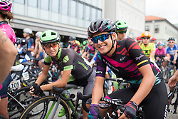Barbara Guarischi (ITA) of CANYON//SRAM Racing flashes a smile before Stage 1 of the Ladies Tour of Norway - a 101.5 km road race, between Halden and Mysen on August 18, 2017, in Ostfold, Norway. (Photo by Balint Hamvas/Velofocus.com)