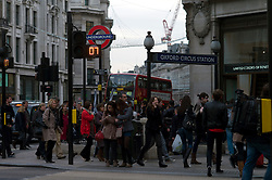 UK ENGLAND LONDON 23NOV11 - Street scene at the busy Oxford Circus intersection in the West End, central London.....jre/Photo by Jiri Rezac....© Jiri Rezac 2011