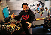 Although MIT roboticist Rodney Brooks has worked in robotics since the late 1970s, he first attracted widespread attention when he began building robot insects, in the 1980s. (He was one of the subjects of Fast, Cheap, and Out of Control, a documentary film.) From the book Robo sapiens: Evolution of a New Species, page 61.