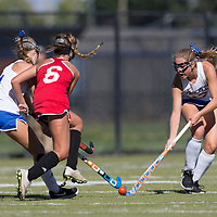 Westmont vs Prospect in a BVAL Girls Field Hockey Game at Prospect High School, Saratoga CA on 9/19/17. (William Gerth/Max Preps)