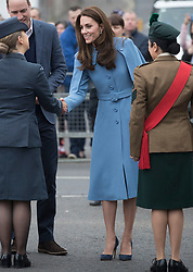 February 28, 2019 - Ballymena, United Kingdom - Image licensed to i-Images Picture Agency. 28/02/2019.  Ballymena, Northern Ireland, United Kingdom. The Duke and Duchess of Cambridge arriving for a  walkabout outside the Braid Centre in Ballymena on the second day of their trip to Northern Ireland. (Credit Image: © Stephen Lock/i-Images via ZUMA Press)