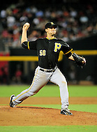 Sep. 20 2011; Phoenix, AZ, USA; Pittsburgh Pirates pitcher Charlie Morton (50) pitches against the Arizona Diamondbacks at Chase Field.  Mandatory Credit: Jennifer Stewart-US PRESSWIRE..